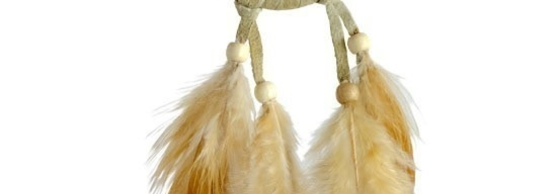 "2"" Vision Seeker Tan Dream Catcher with Stone"