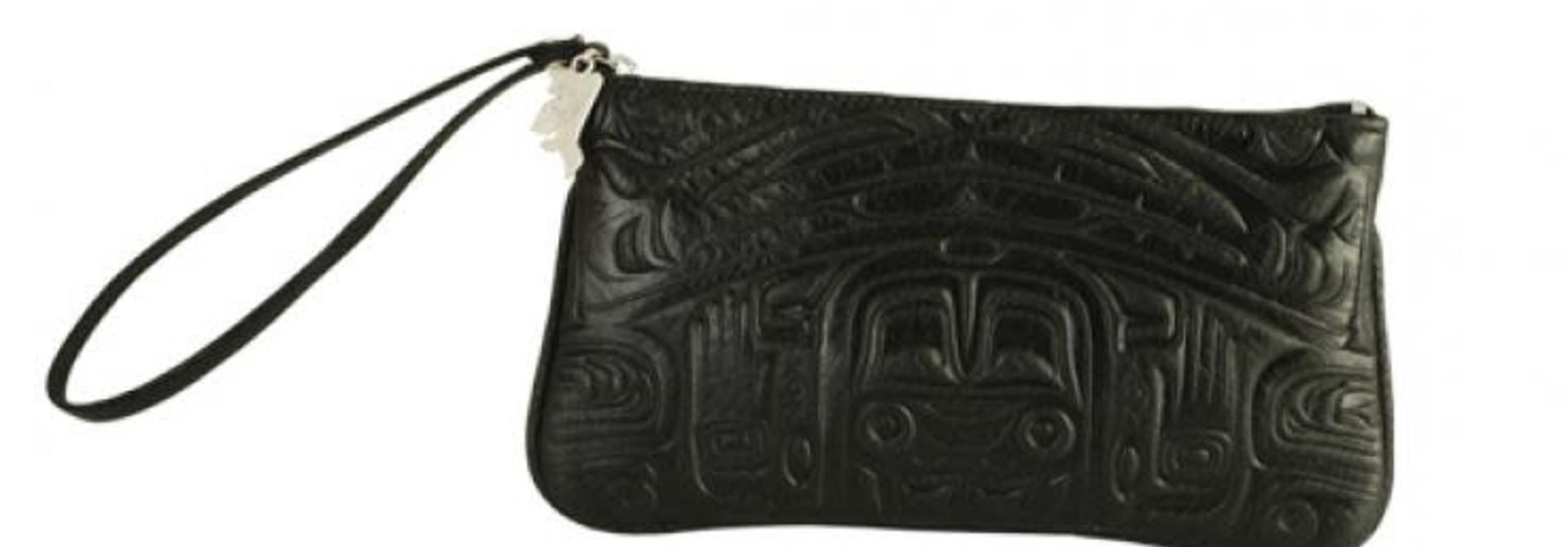Deerskin Wristlet with Bearbox design - Black