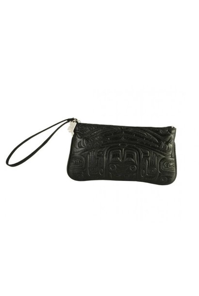 Deerskin Wristlet with Bearbox design - Black