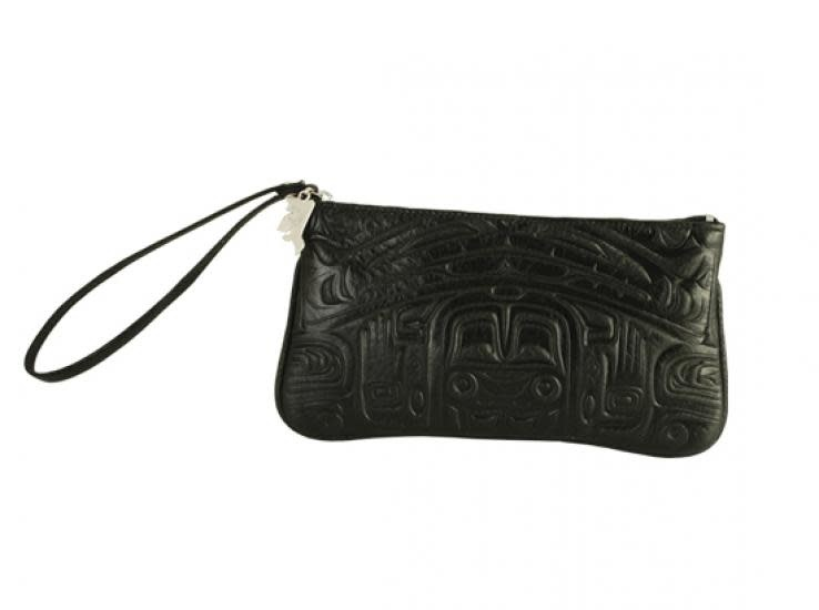 Deerskin Wristlet with Bearbox design - Black-1
