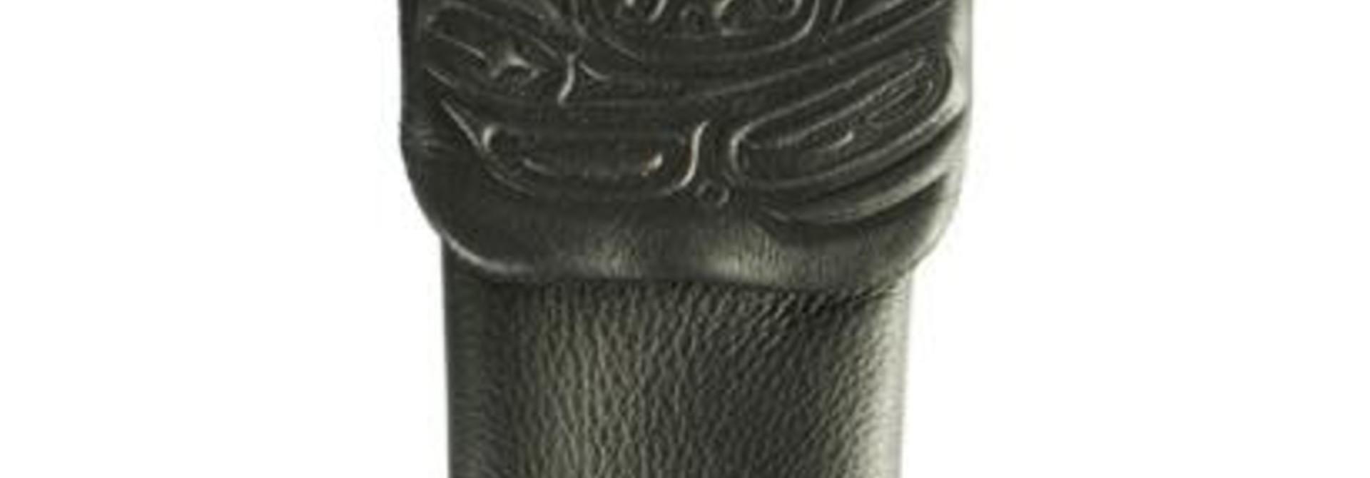 Leather embossed Eyeglass Case Black -Raven by Corrine Hunt