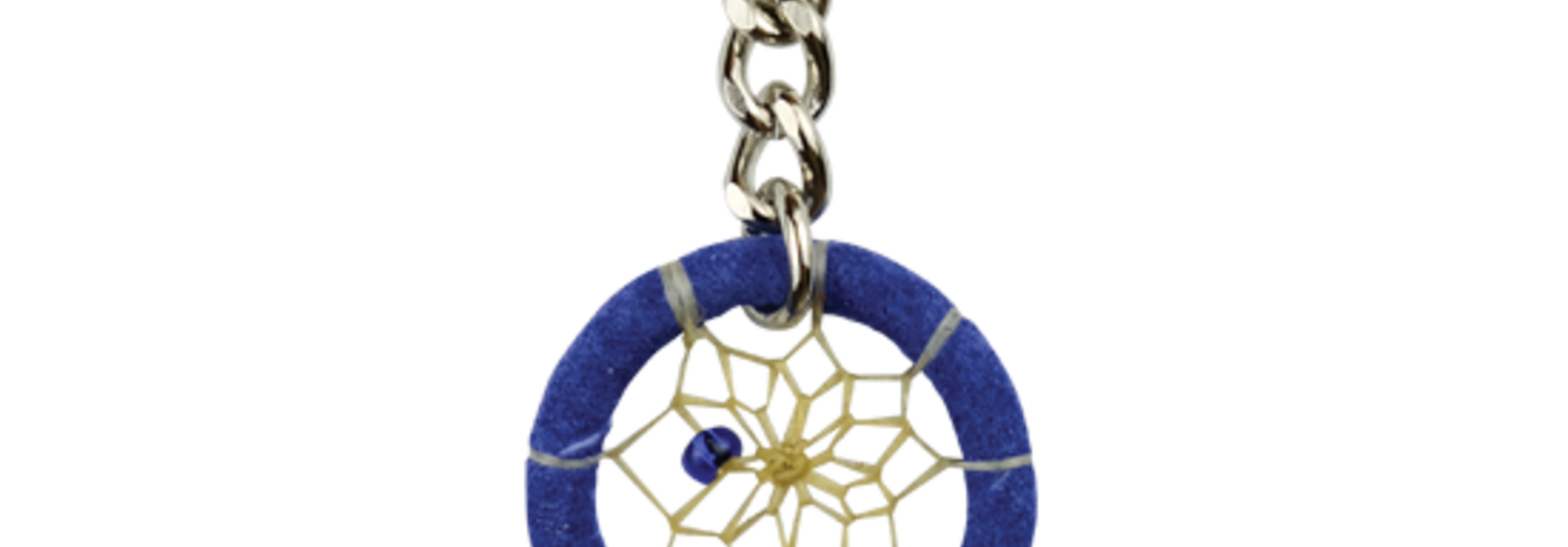 """1.25"""" Dream Catcher Feather Keychains - Royal blue"""