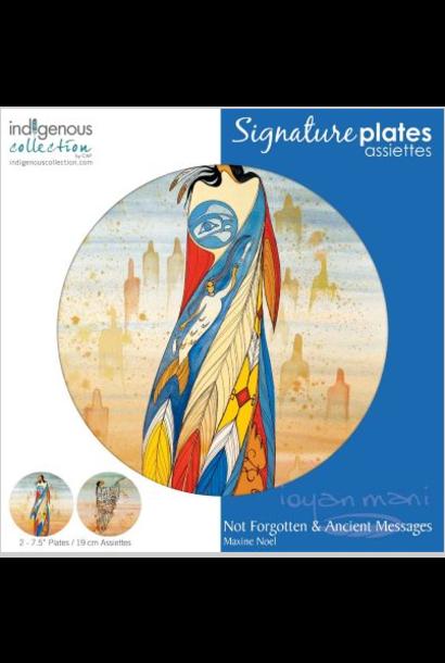 Decorative Plate-Not Forgotten/Ancient Messages-Maxine Noel