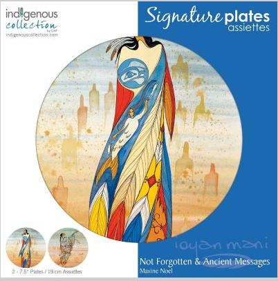 Decorative Plate-Not Forgotten/Ancient Messages-Maxine Noel-1