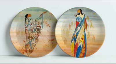 Decorative Plate-Not Forgotten/Ancient Messages-Maxine Noel-2