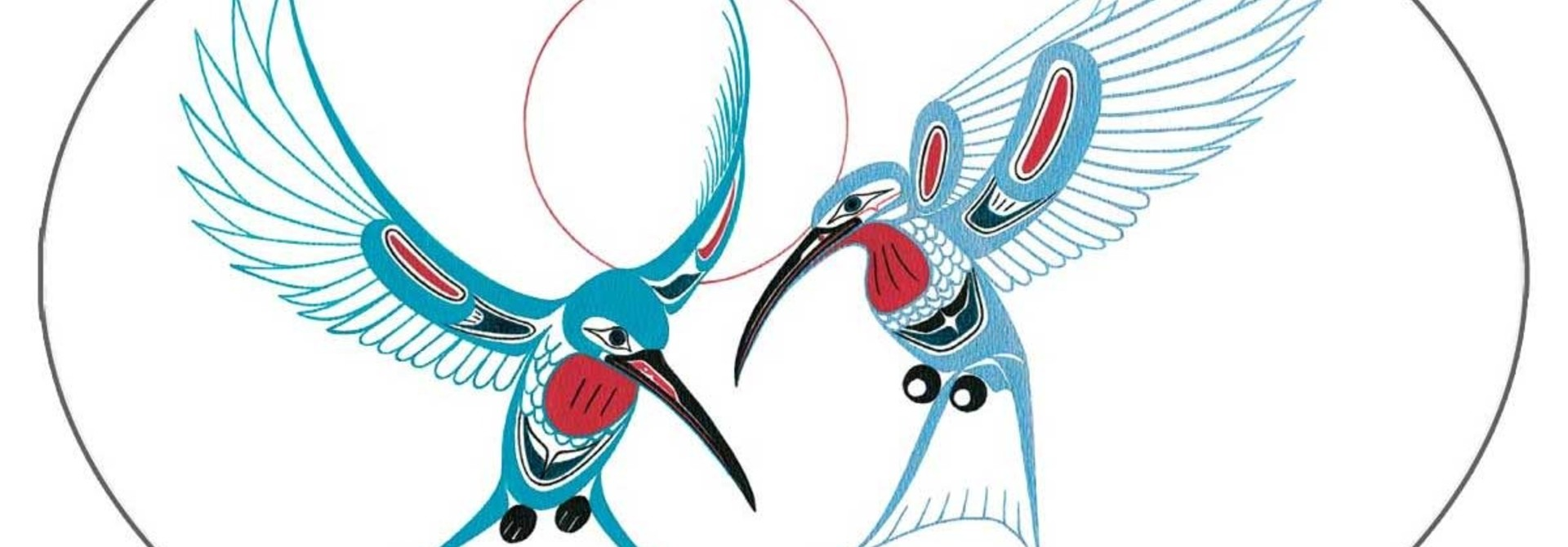 "5""x3.5"" Sticker hummingbird-Richard Shorty"