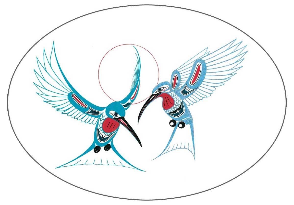 "5""x3.5"" Sticker hummingbird-Richard Shorty-1"