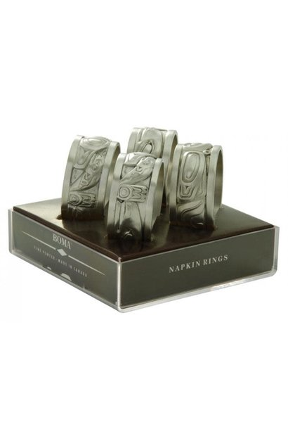 Silver Pewter Napkin rings