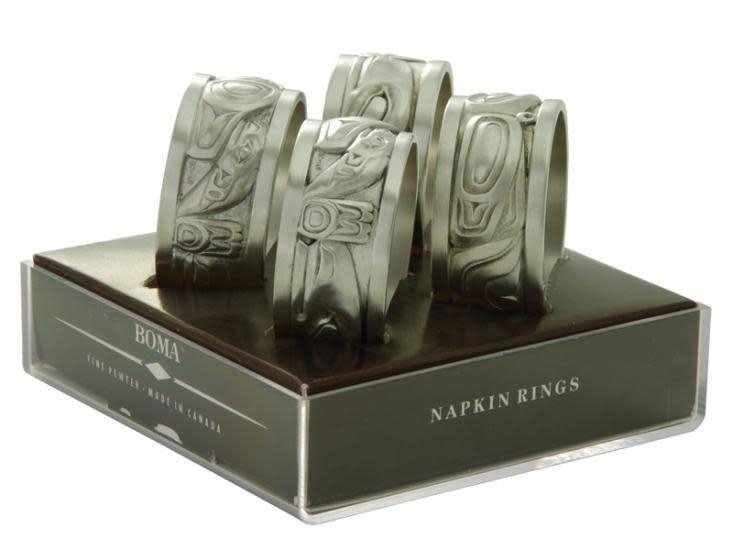 Silver Pewter Napkin rings-1
