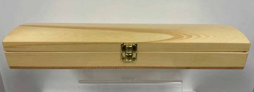 Handcrafted Feather Box - Yellow Cedar-3