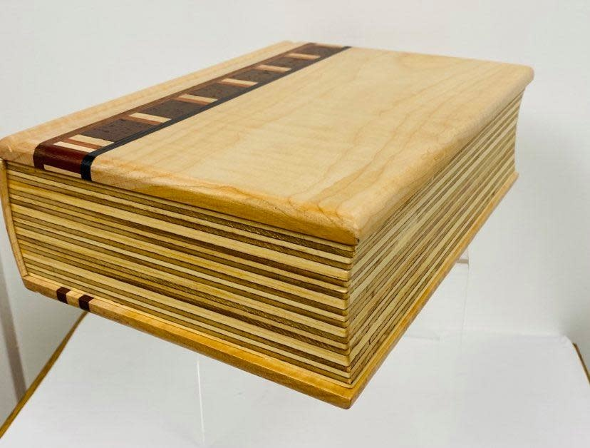 Hand Crafted Maple Desk Box - by Maurice Lenglet-1