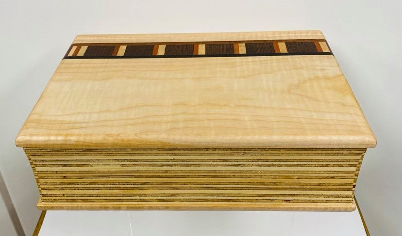 Hand Crafted Maple Desk Box - by Maurice Lenglet-2