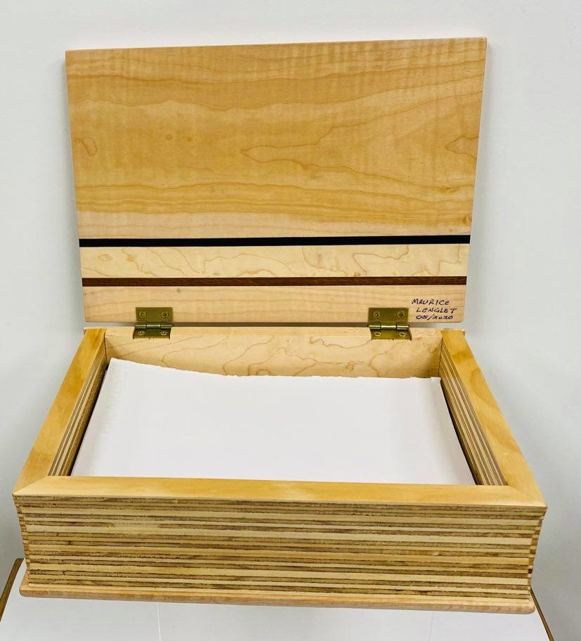 Hand Crafted Maple Desk Box - by Maurice Lenglet-3