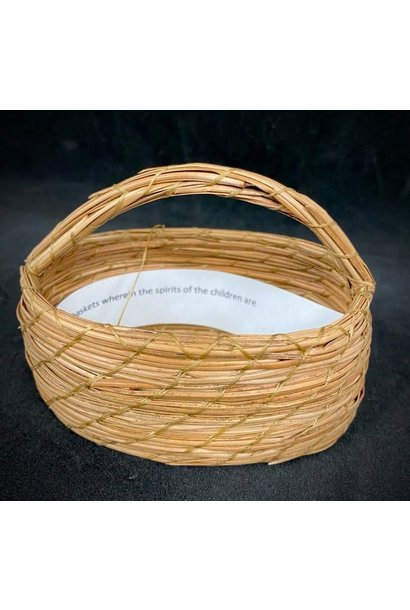 Oval Pine Needle Basket by Maurice Lenglet
