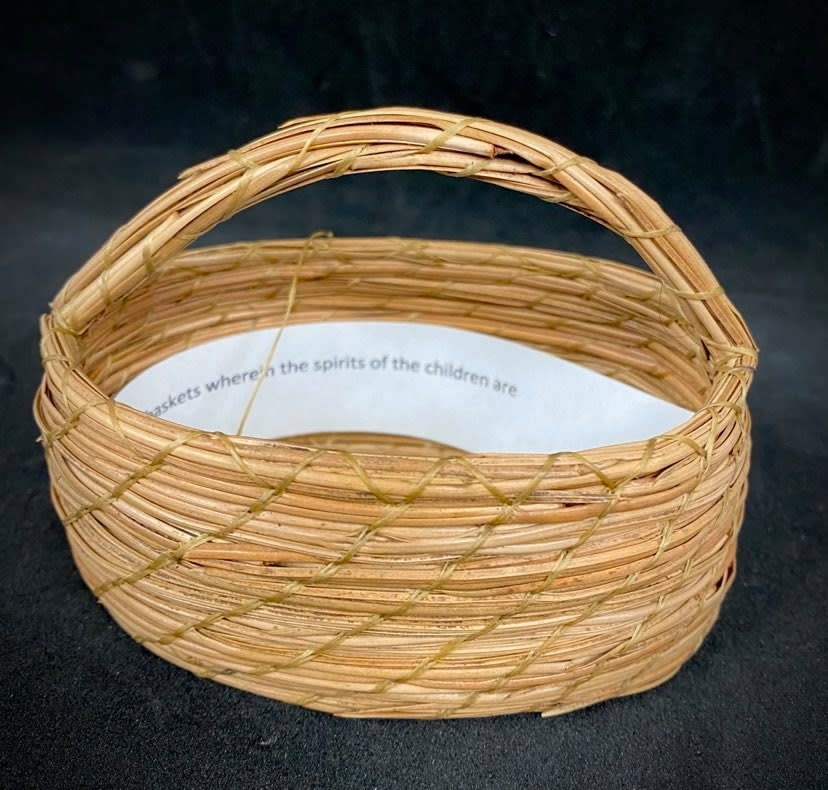 Oval Pine Needle Basket by Maurice Lenglet-1