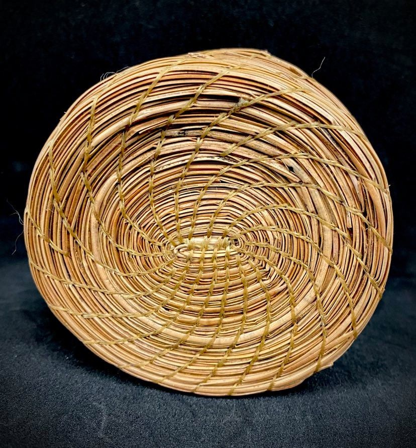 Oval Pine Needle Basket by Maurice Lenglet-2