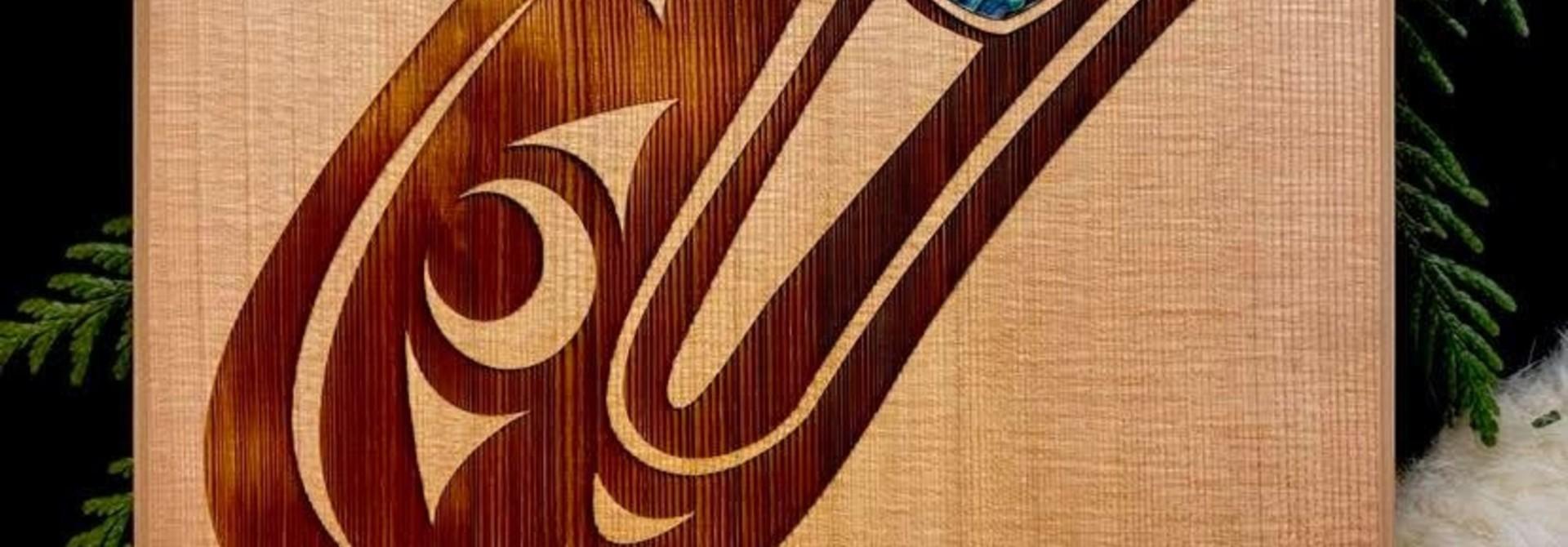 Cedar Wall Plaque - Raven Head
