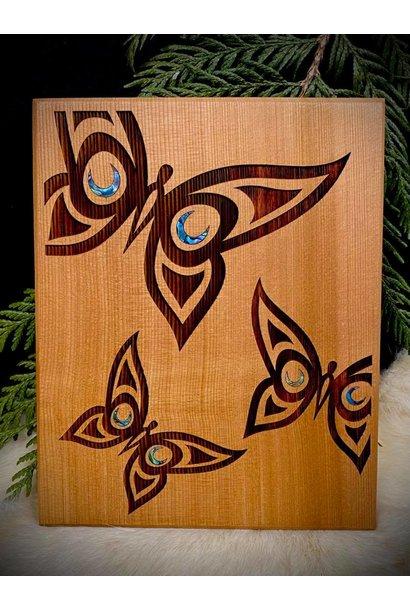 Cedar Wall Plaque - Butterfly