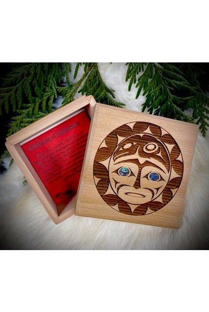 Bentwood Box -Raven & Sun