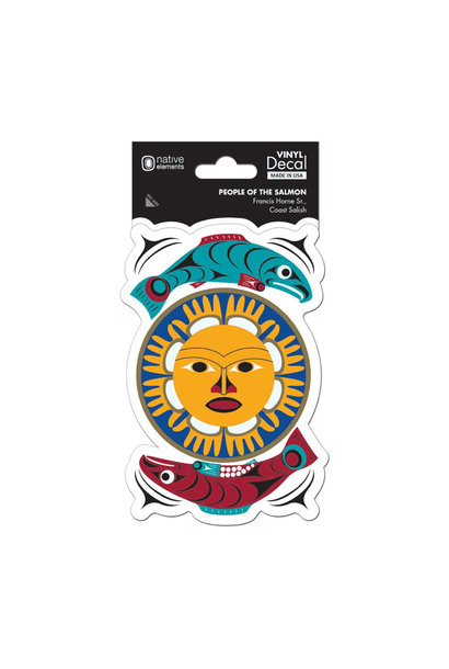 Decal- People of the Salmon by Francis Horne Sr.