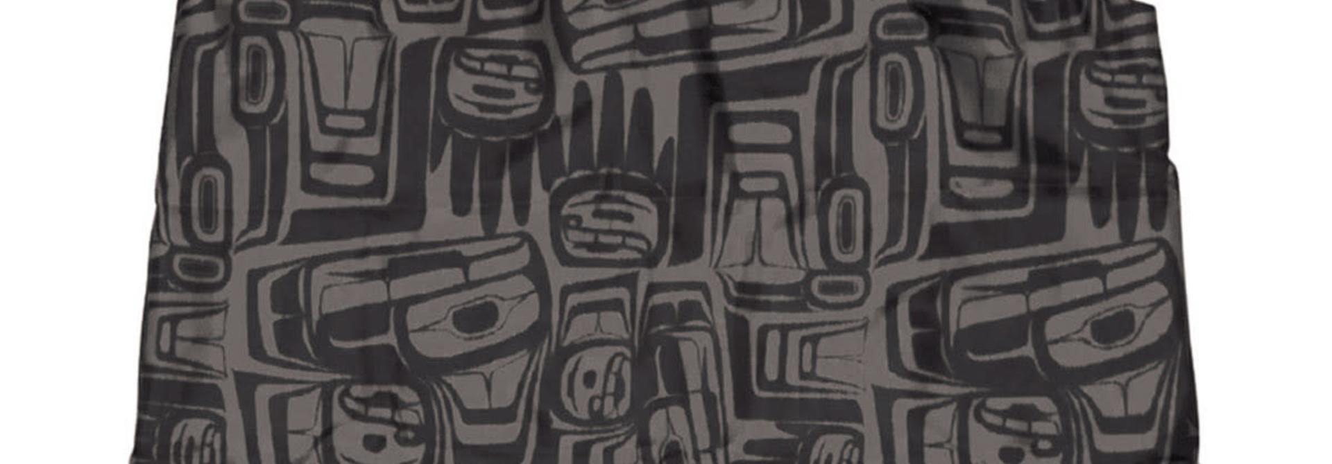 Foldable Bag -black Eagle Crest by Ben Houstie