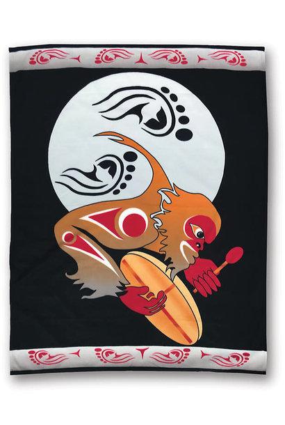 Premium Fleece Blanket -Drum to Sasquatch Night