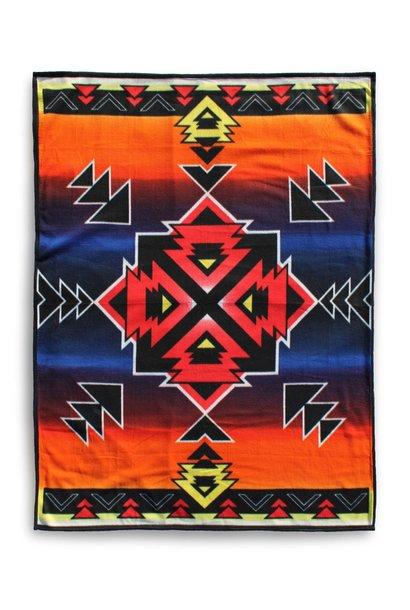 Premium Fleece Blanket-Hogan Sunset