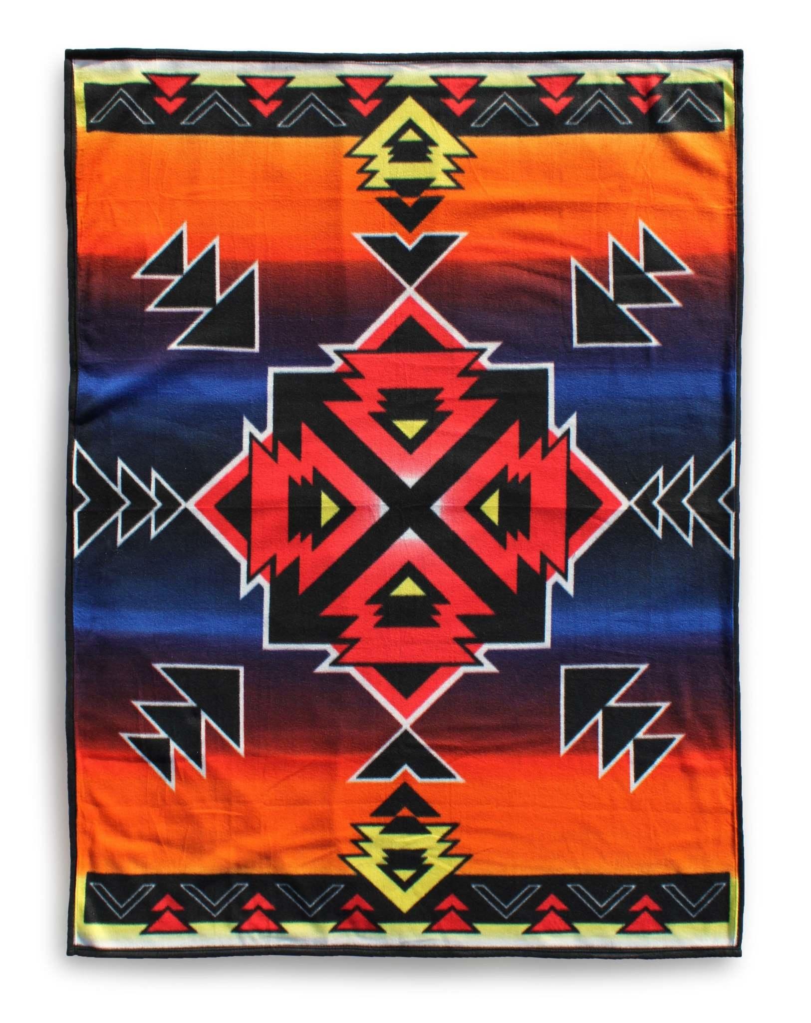 Premium Fleece Blanket-Hogan Sunset-2