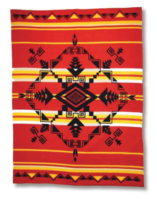 Premium Fleece Blankets-Gods Eye Red-1