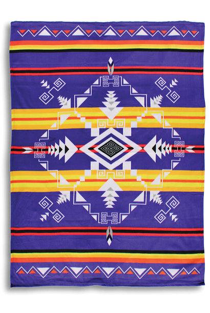 Premium Fleece Blankets-God's Eye Purple
