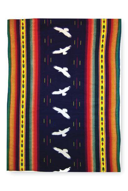 Premium Fleece Blanket-Eagle Stripe