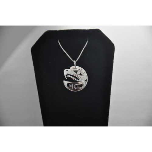 Silver Carved Pendant - Eagle by Vincent Henson-1