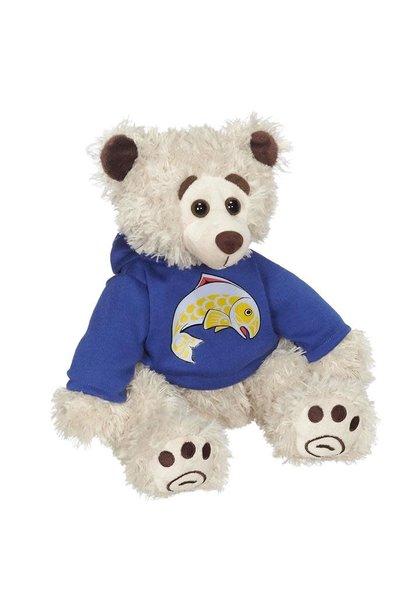 "11"" Mokey Bear with Salmon Hoodie"