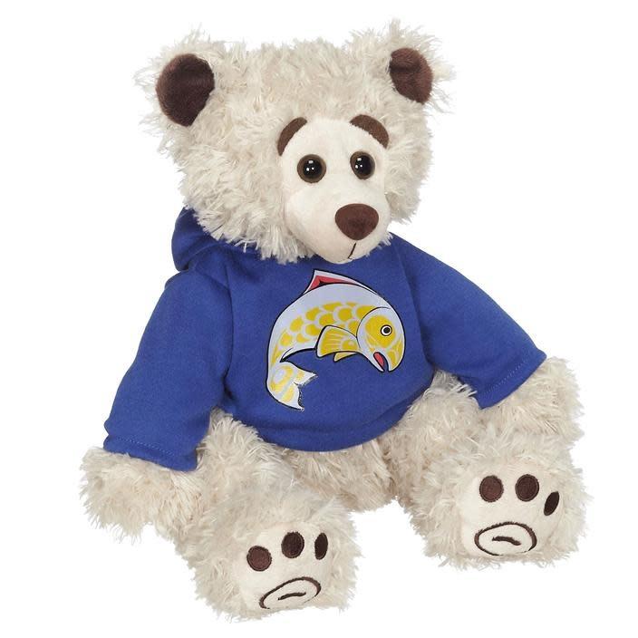 "11"" Mokey Bear with Salmon Hoodie-1"