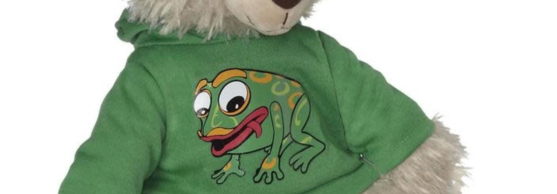 "11"" Mokey Bear with Frog Hoodie"