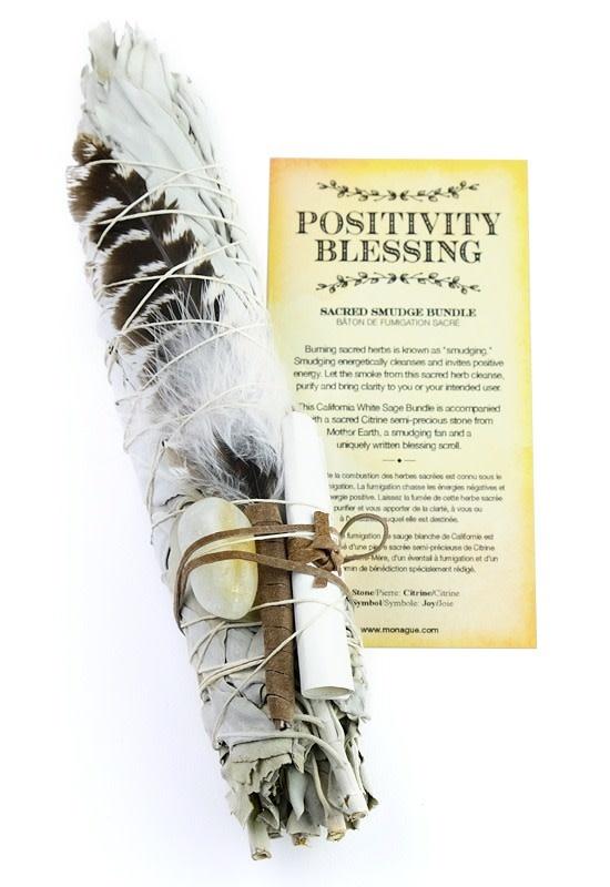 Botanical Blessing Smudge Kit - Citrene Stone-1