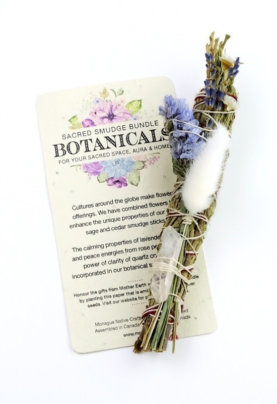 Botanical Smudge Cedar & Lavender with Quartz Crystal-1