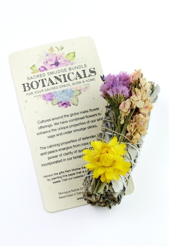 Botanical Smudge in small Sage with Lavender and Strawflower-1