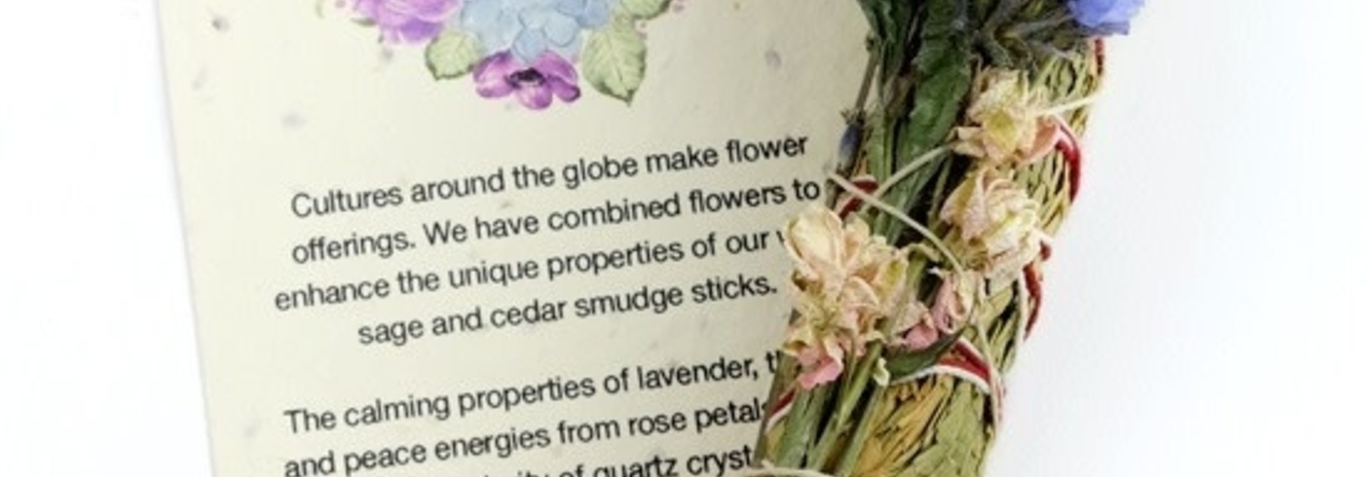 Botanical Smudge in Cedar Lavender & Strawflower