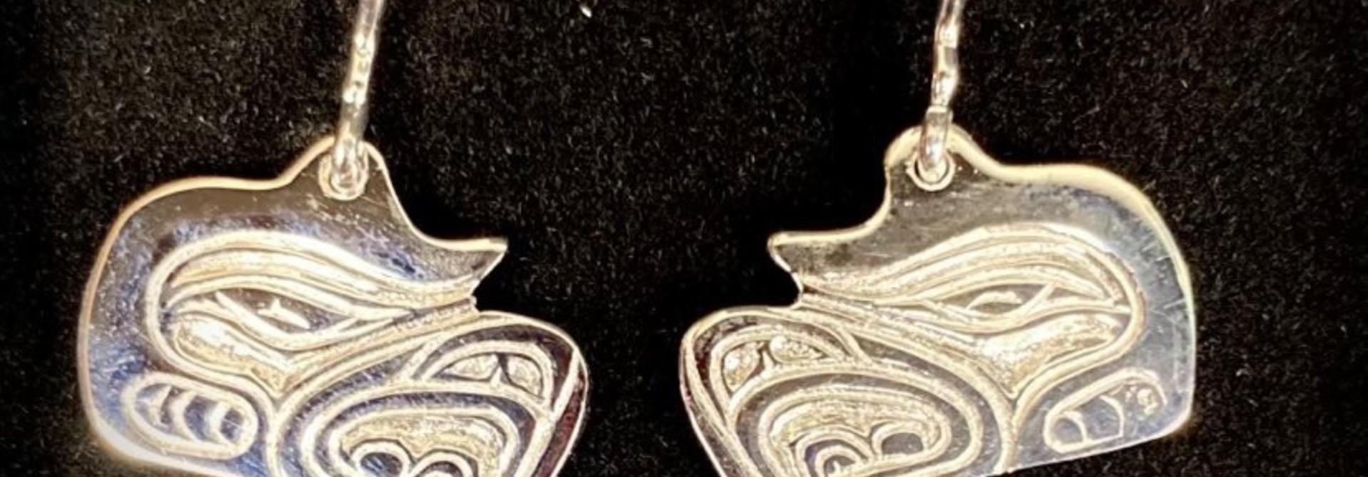 Silver Cast Eagle Earrings by Jadeon Rathgeber
