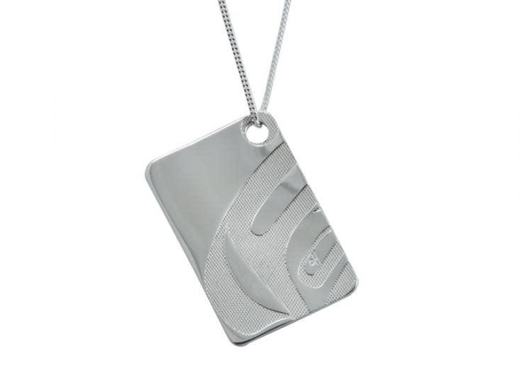 "Silver Pewter ""Nexus"" Pendant by Corrine Hunt-1"