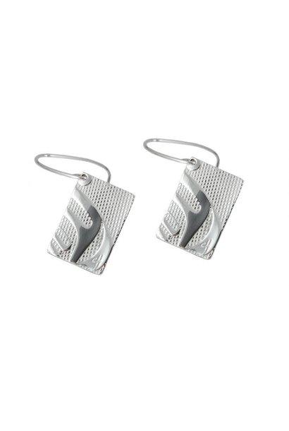 """Silver Pewter Earrings in """"Nexus"""" design by Corrine Hunt"""
