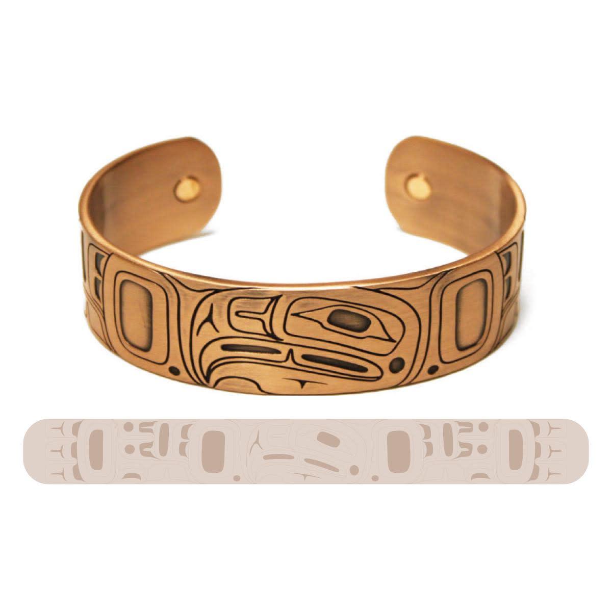 Copper Bracelet-Eagle by Gordon White-1