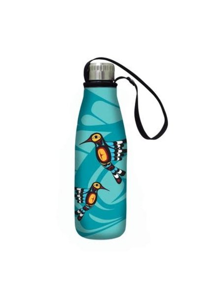 Insulated water bottle- Hummingbirds by Francis Dick