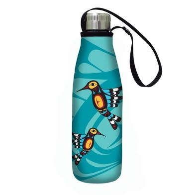Insulated water bottle- Hummingbirds by Francis Dick-1