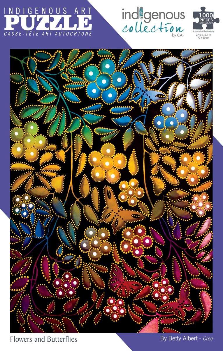1000 piece puzzle -Flowers & Butterflies by Betty Albert-1