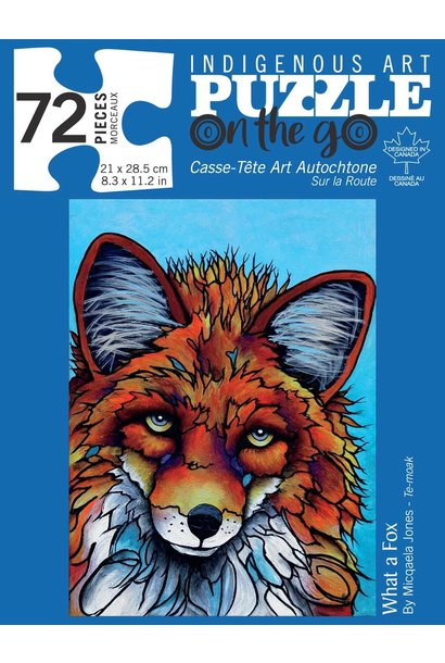 72 Piece Puzzle - What a Fox by Micqaela Jones