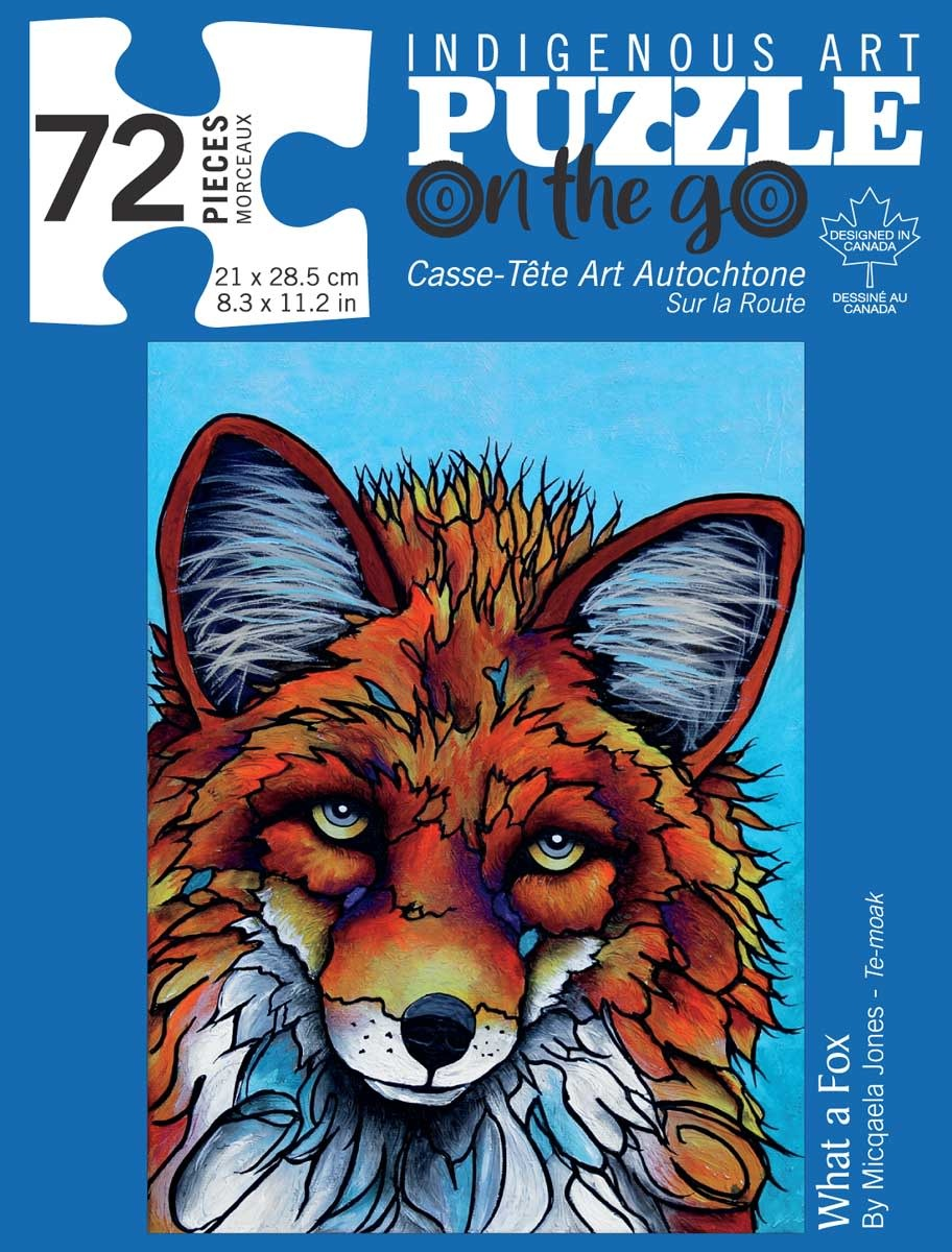 72 Piece Puzzle - What a Fox by Micqaela Jones-1