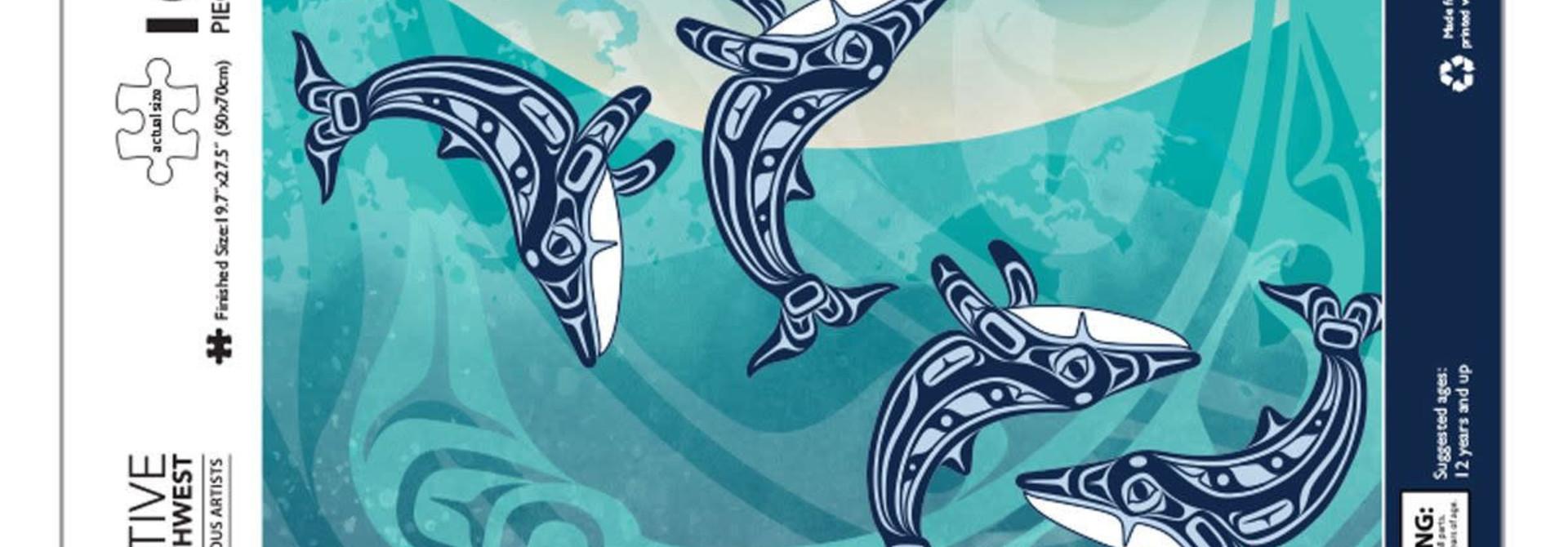 1000 pcs Puzzle - Humpback Whale by Gordon White