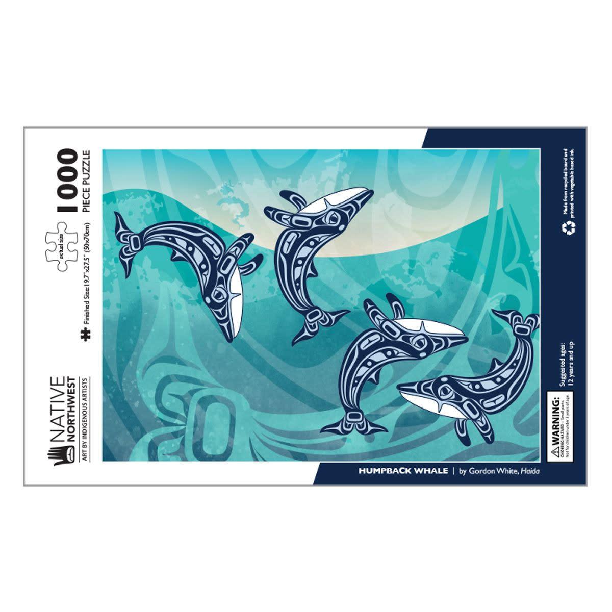 1000 pcs Puzzle - Humpback Whale by Gordon White-1
